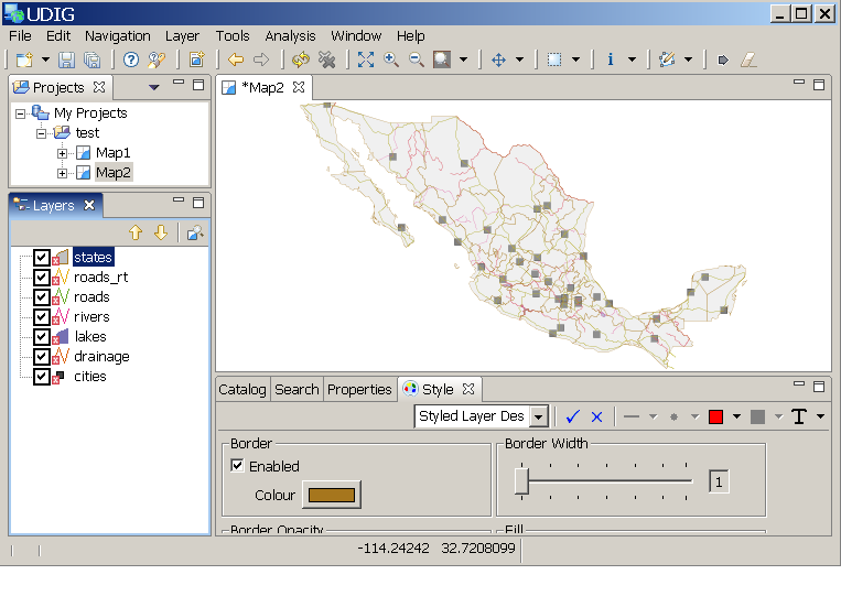 Adding features from a Shapefile — uDig 1 3 2 User Guide